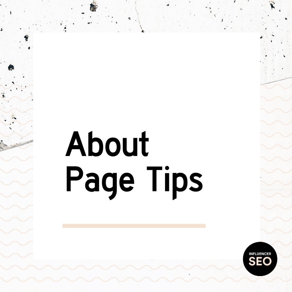 About page tips for creating the perfect about me page for your blog.