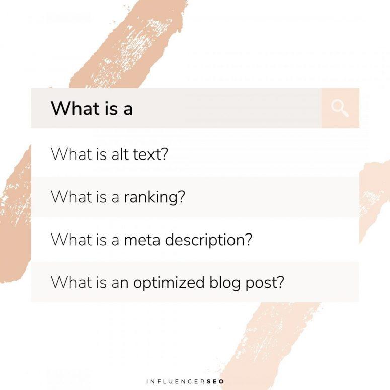 SEO Terms Definition List