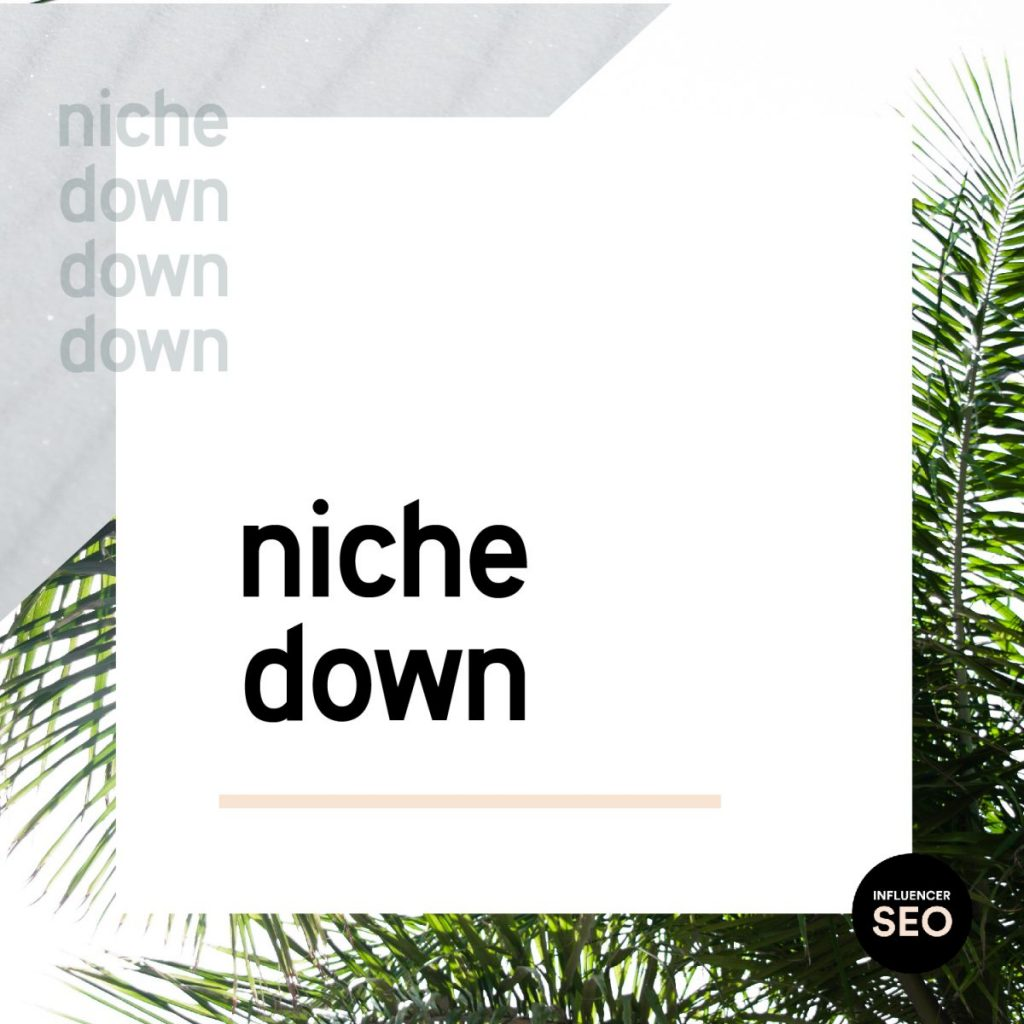niche down basic seo tip for bloggers